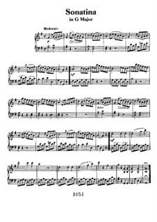 Sonatina in G Major: Para Piano by Ludwig van Beethoven