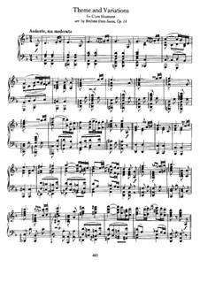 String Sextet No.1 in B Flat Major, Op.18: movimento II, versão para piano by Johannes Brahms