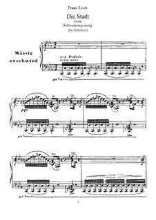 No.11 Die Stadt (The City): Para Piano by Franz Schubert