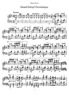 Grand Chromatic Galop, S.219: Para Piano by Franz Liszt