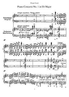 Piano Concerto No.1 (for Two Pianos Four Hands), S.650: partitura para piano by Franz Liszt