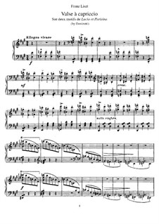 Transcription on Themes from 'Lucia et Parisina' by Donizetti, S.401: Para Piano by Franz Liszt