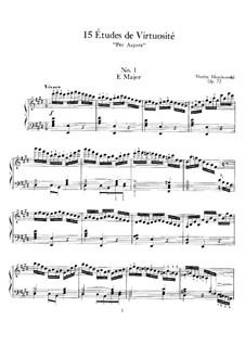 Fifteen Virtuosic Etudes, Op.72: set completo by Moritz Moszkowski
