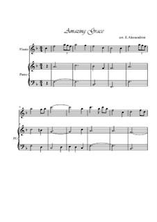 Amazing Grace: para flauta e piano by folklore