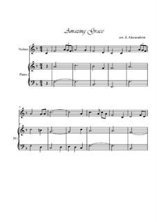 Amazing Grace: para violino by folklore
