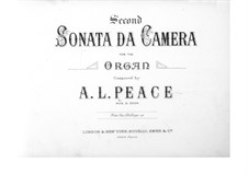 Sonata da camera No.2 in C Minor: Sonata da camera No.2 in C Minor by Albert Lister Peace