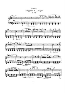 Allegretto for Piano in C Major (Fragment), D.346: para um único musico (Editado por H. Bulow) by Franz Schubert