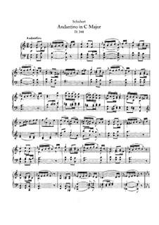 Andantino for Piano in C Major (Fragment), D.348: para um único musico (Editado por H. Bulow) by Franz Schubert