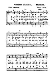 Wandrers Nachtlied (Abendlied): Wandrers Nachtlied (Abendlied) by Friedrich Kuhlau