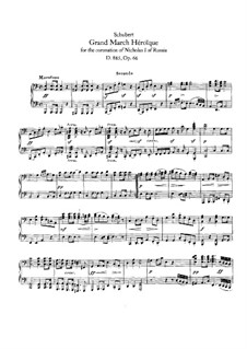 Grand Heroic March for the Coronation of Nicholas I of Russia, D.885: primeira parte, segunda parte by Franz Schubert