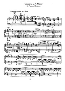 Concerto for Piano and Orchestra in A Minor, Op.54: Version for piano solo by Robert Schumann