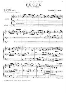 Fugue for Organ, Op.3: Fugue para órgão by Gabriel Pierné