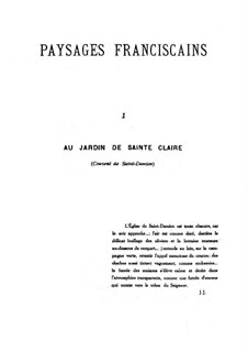 Paysages franciscains, Op.43: Paysages franciscains by Gabriel Pierné