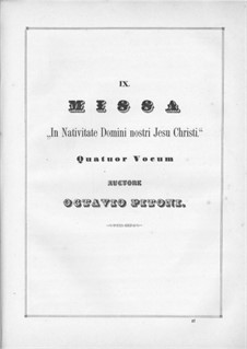 In Nativitate Domini nostri: movimentos I-II by Giuseppe Pitoni