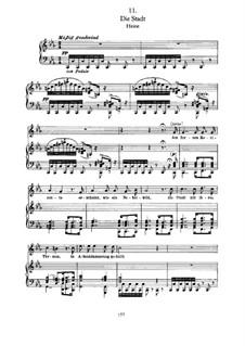 No.11 Die Stadt (The City): Para vocais e piano by Franz Schubert
