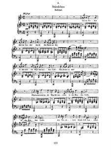 No.4 Ständchen (Serenade): Para vocais e piano by Franz Schubert