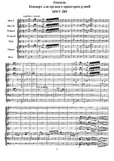 Concerto No.1 in G Minor, HWV 289: partitura completa by Georg Friedrich Händel