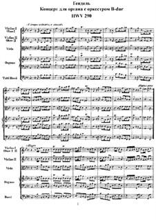 Concerto No.2 in B Flat Major, HWV 290: partitura completa by Georg Friedrich Händel