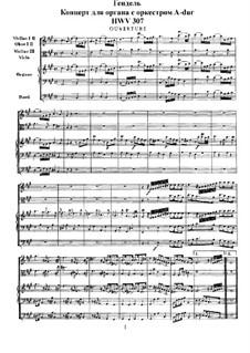 Concerto No.2 in A Major, HWV 307: partitura completa by Georg Friedrich Händel