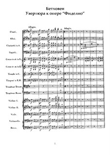 Overture: partitura by Ludwig van Beethoven