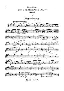 Suite No.1, Op.46: parte de oboes by Edvard Grieg