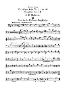 Suite No.1, Op.46: parte de trombones e tubas by Edvard Grieg
