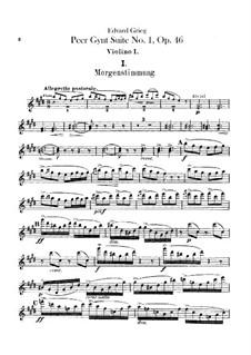 Suite No.1, Op.46: parte violinos by Edvard Grieg
