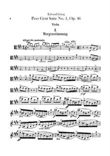 Suite No.1, Op.46: parte violas by Edvard Grieg