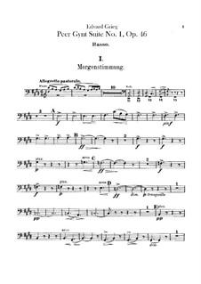 Suite No.1, Op.46: Parte contrabaixo by Edvard Grieg