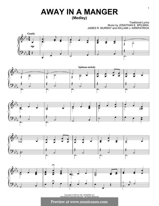 Away in a Manger: Para Piano by folklore
