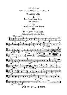 Suite No.2, Op.55: parte de trombones e tubas by Edvard Grieg