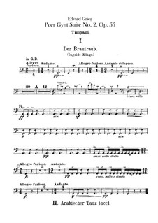 Suite No.2, Op.55: Parte percussão by Edvard Grieg