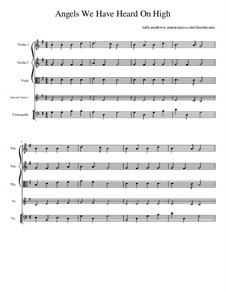 Angels We Have Heard on High: para quartetos de cordas by folklore