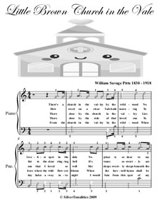 The Little Brown Church: Facil para o piano by William S. Pitts