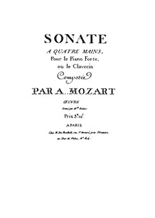Sonata for Piano Four Hands in C Major, K.19d: partes by Wolfgang Amadeus Mozart