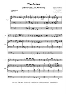 The Palms (with All Glory, Laud and Honor): Para saxofone tenor e órgão by Jean-Baptiste Faure, Melchior Teschner