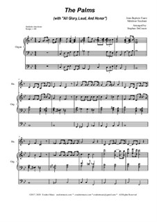 The Palms (with All Glory, Laud and Honor): For french horn solo and organ by Jean-Baptiste Faure, Melchior Teschner