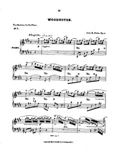 Ten Sketches, Op.26: set completo by John Knowles Paine