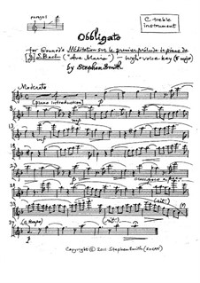 Ave Maria: Obbligato (high key) by Johann Sebastian Bach, Charles Gounod