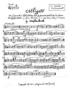 Ave Maria: Obbligato (low key) by Johann Sebastian Bach, Charles Gounod