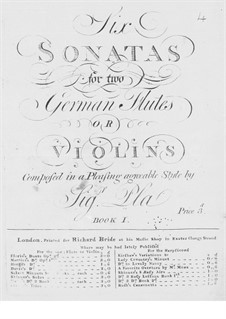 Six Sonatas for Two Flutes (or Two Violins): Six Sonatas for Two Flutes (or Two Violins) by José Pla