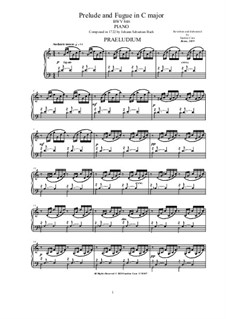 Prelude and Fugue No.1 in C Major, BWV 846: Para Piano by Johann Sebastian Bach