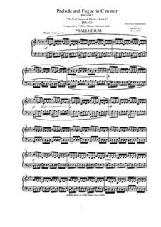 Prelude and Fugue No.2 in C Minor, BWV 847: Para Piano by Johann Sebastian Bach