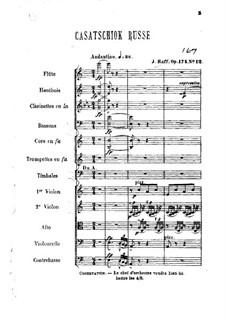 Aus dem Tanzsalon, Op.174: Nr.12 Casatschiok Russe by Joseph Joachim Raff