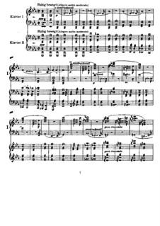 Symphony No.4 in E Flat Major 'Romantic', WAB 104: arranjos para dois pianos de quatro mãos by Anton Bruckner