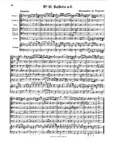 Ballet for Strings and Harpsichord: Ballet for Strings and Harpsichord by Alessandro Poglietti