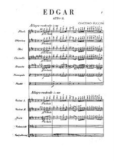 Edgar: Ato II by Giacomo Puccini