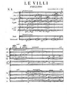 Le Villi (The Willis or The Fairies): ato I by Giacomo Puccini