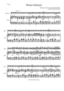 Wiener Schnitzel: para fagote e piano by folklore, Wenzel Müller, Josef Lanner