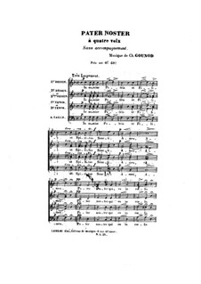 Pater noster: Pater noster by Charles Gounod